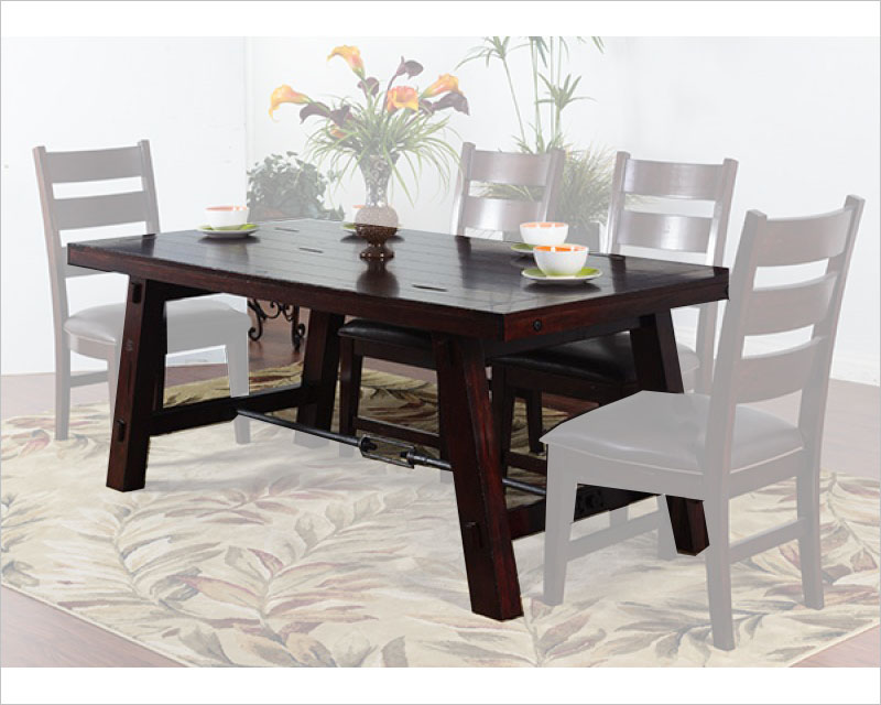 Charmant Vineyard Dining Rectangular Table By Sunny Designs Su 1367rm