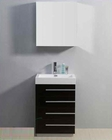 "Virtu USA 24"" Single Sink Bathroom Vanity Bailey Wenge VU-JS-50524-WG"
