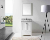 "Virtu USA 24"" Sink Bathroom Vanity Caroline VU-GS-50024-WMSQ-WH"