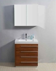 "Virtu USA 30"" Single Sink Bathroom Vanity Bailey Plum VU-JS-50530-PL"