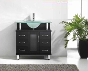 "Virtu USA 32"" Single-Sink Bathroom Vanity Vincente Espresso VU-MS-32"