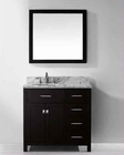 "Virtu USA 36"" Round Sink Bathroom Vanity Espresso VU-MS-2136R-WMRO-ES"