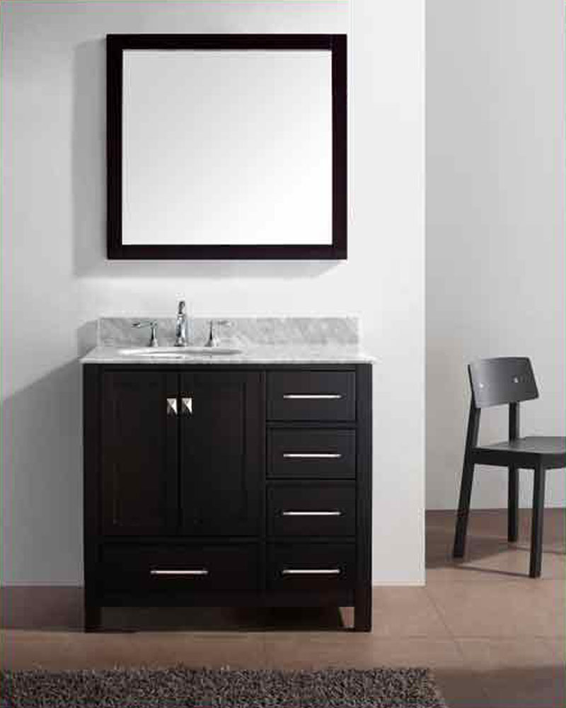 "36 Bathroom Vanity Gray: Virtu USA 36"" Bathroom Vanity Set Caroline Avenue VU-GS"