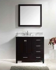 Virtu usa 36 round sink bathroom vanity caroline vu gs for Virtu usa caroline 36 inch single sink bathroom vanity set