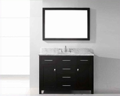 "Virtu USA 48"" Round Sink Bathroom Vanity Caroline VU-MS-2048-WMRO-ES"