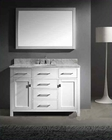 "Virtu USA 48"" Round Sink Vanity Caroline in White VU-MS-2048-WMRO-WH"