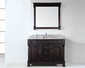 "Virtu USA 48"" Round Sink Bathroom Vanity Huntshire in GS-4048-WMRO-DW"