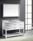 "Virtu USA 48"" Round Sink Bathroom Vanity Caroline VU-MS-2248-WMRO-WH"