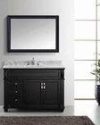 "Virtu USA 48"" Round Sink Bathroom Vanity set VU-MS-2648-WMRO-ES"