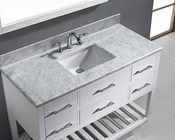 "Virtu USA 48"" Square Sink Bathroom Vanity Caroline VU-MS-2248-WMSQ-WH"