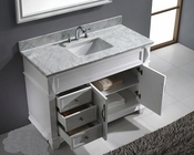 "Virtu USA 48"" Square Sink Bathroom Vanity White VU-MS-2648-WMSQ-WH"