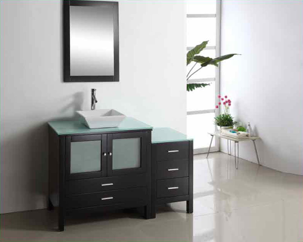 "virtu usa 54"" single bathroom vanity brentford in espresso"