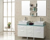 "Virtu USA 56"" Double Bathroom Vanity Maybell in White VU-UM-3063-G-WH"