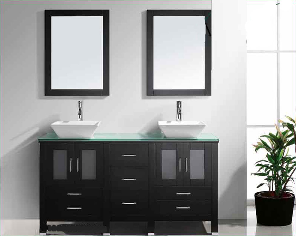 60 Double Sink Bathroom Vanity.  Virtu USA 60 Double Sink Bathroom Vanity Bradford Espresso VU MD 4305