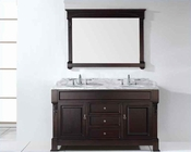 "Virtu USA 60"" Square Sinks Vanity Huntshire in VU-GD-4060-WMSQ-DW"