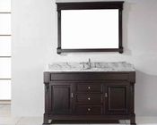 "Virtu USA 60"" Round Sink Bathroom Vanity Huntshire VU-GS-4060-WMRO-DW"