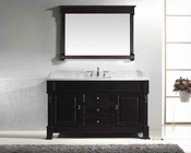 "Virtu USA 60"" Square Sink Bathroom Vanity Huntshire VU-GS-4060-WMSQ-DW"