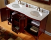 Virtu USA 60in Antique Cherry Double Sink Vanity VU-ED-52060-WMRO-AC