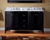 Virtu USA 60in Espresso Double Sink Vanity VU-ED-52060-WMRO-ES