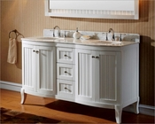 Virtu USA 60in White Double Sink Vanity VU-ED-52060-WMRO-WH