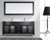 "Virtu USA 71"" Double Sink Bathroom Vanity Ava in Espresso VU-UM-3073"