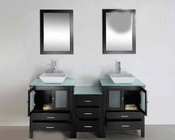 "Virtu USA 72"" Double Bathroom Vanity Brentford in Espresso VU-MD-4472"