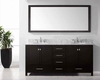 "Virtu USA 72"" Sink Bathroom Vanity Caroline Avenue VU-GD-50072-WMRO-ES"