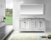 "Virtu USA 72"" Sink Vanity Caroline Avenue in White VU-GD-50072-WMRO-WH"