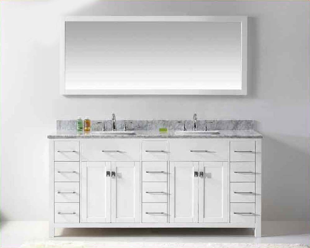 Virtu Usa 72 Quot Square Sinks Bathroom Vanity Caroline Vu Md