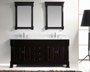 "Virtu USA 72"" Square Sinks Vanity Huntshire in VU-GD-4072-WMSQ-DW"