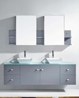 Virtu USA 72in Double Bathroom Set Clarissa in Grey VU-MD-409-GR