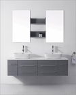 Virtu USA Augustine Grey 59in Double Bathroom Set VU-UM-3051-S-GR