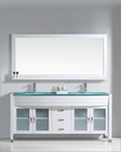 Virtu USA Ava 73in Double Bathroom Set in White VU-UM-3073-WH