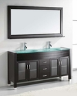 Virtu USA Ava Espresso 63in Double Bathroom Set VU-MD-499-ES