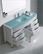 Virtu USA Ava White 55in Single Bathroom Set VU-MS-5055-G-WH