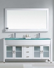 Virtu USA Ava White 63in Double Bathroom Set VU-MD-499-WH