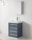 Virtu USA Bailey 24in Single Bathroom Set in Grey VU-JS-50524-GR