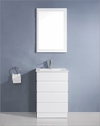 Virtu USA Bruno White 24in Single Bathroom Set VU-UM-3085-C-WH