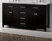Virtu USA Caroline Espresso 60in Bathroom Vanity VU-MD-2060-CAB-ES