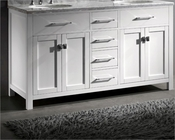 Virtu USA Caroline White 60in Bathroom Vanity VU-MD-2060-CAB-WH