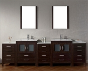 Virtu USA Dior Espresso 11in Double Bathroom Set VU-KD-700110-C-ES