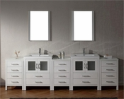 Virtu USA Dior White 11in Double Bathroom Set VU-KD-700110-C-WH