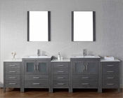 Virtu USA Dior Zebra Grey 11in Double Bathroom Set VU-KD-700110-C-ZG