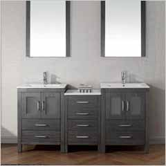 Virtu USA - Double Sink Bathroom Vanity