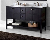 Virtu USA Double Sink Bathroom Vanity Winterfell VU-ED-30060-WMSQ-ES