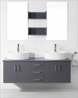 Virtu USA Enya Grey 59in Double Bathroom Set VU-UM-3053-GR