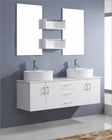 Virtu USA Enya White 59in Double Bathroom Set VU-UM-3053-WH