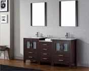 Virtu USA Espresso Double Bathroom Set Dior VU-KD-70066-C-ES