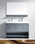 Virtu USA Gloria 48in Double Bathroom Set in Grey VU-MD-423-C-GR