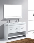 Virtu USA Gloria White 48in Double Bathroom Set VU-MD-423-C-WH